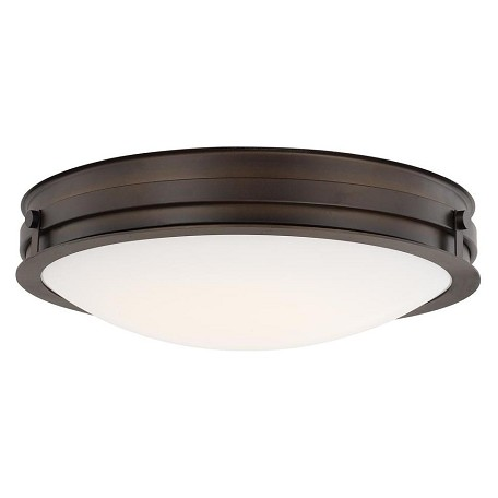 Capital Burnished Bronze Capital Ceilings 1 Light LED Flush Mount Ceiling Fixture