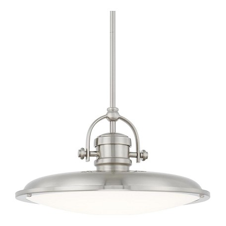 Capital Brushed Nickel Pendants 1 Light LED Pendant