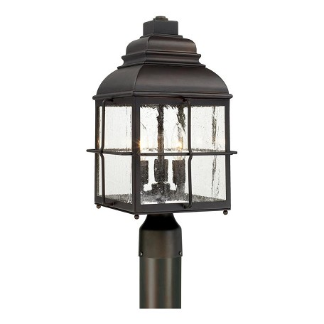Capital Old Bronze Lanier 3 Light Outdoor Post Light