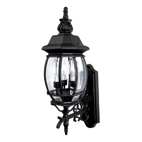 Capital Black French Country 3 Light Outdoor Wall Sconce Black 9863bk From French Country Collection