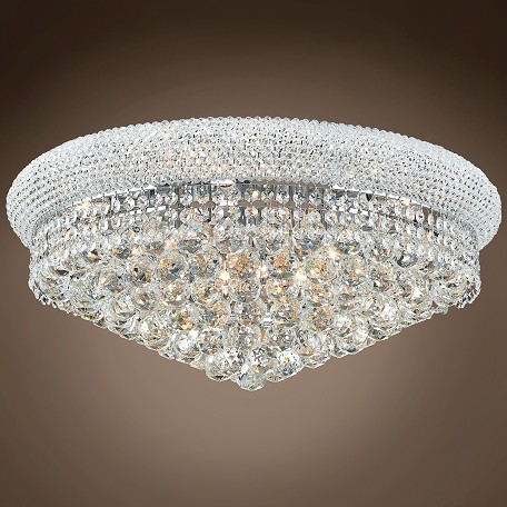 "JM Bagel Design 12 Light 24"" Flush Mount"