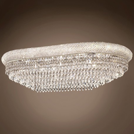"JM Bagel Design 18 Light 36"" Flush Mount"