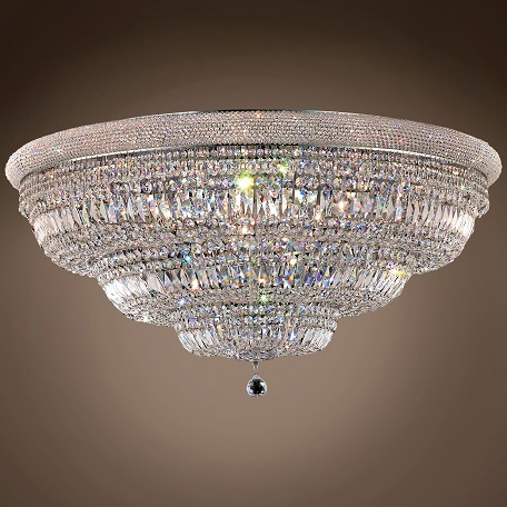 "JM Bagel Design 33 Light 48"" Flush Mount"