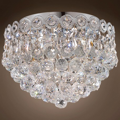 "JM Empire Design 3 Light 10"" Flush Mount"