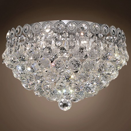 "JM Empire Design 4 Light 14"" Flush Mount"