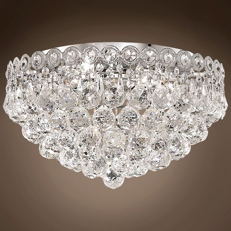 "JM Empire Design 4 Light 16"" Flush Mount"