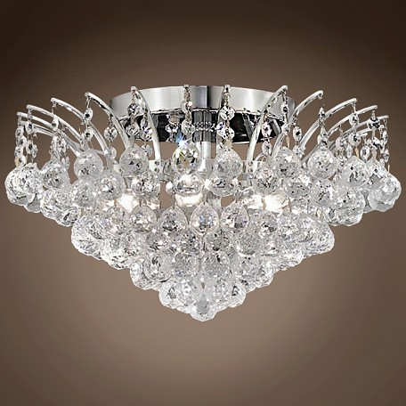 "JM Flamingo Design 6 Light 16"" Flush Mount"
