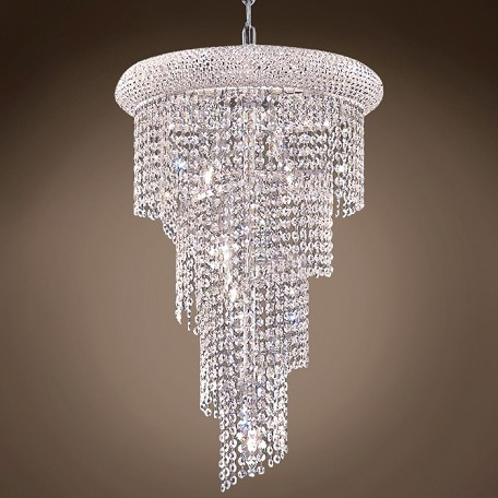 "JM Spiral Design 8 Light 16"" Chandelier"
