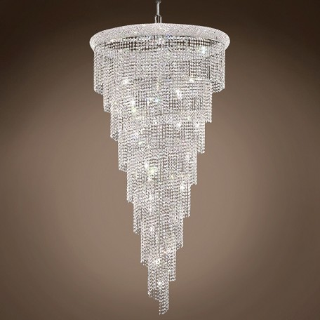 "JM Spiral Design 26 Light 36"" Chandelier"
