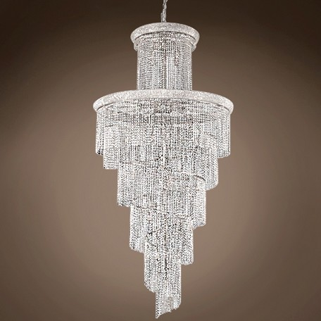 "JM Spiral Design 41 Light 48"" Chandelier"