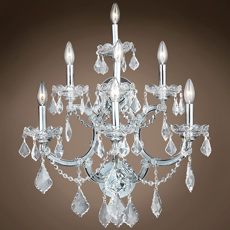"JM Maria Theresa 7 Light 22"" Wall Sconce"