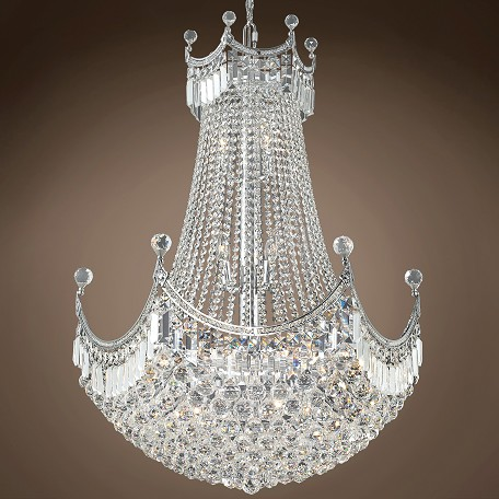 "JM Royal Throne Design 24 Light 30"" Chandelier"
