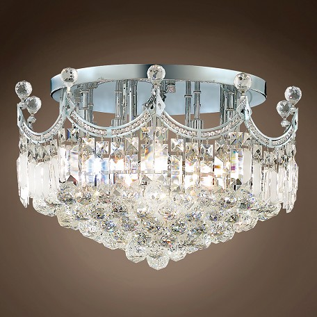 "JM Royal Throne Design 9 Light 20"" Flush Mount"