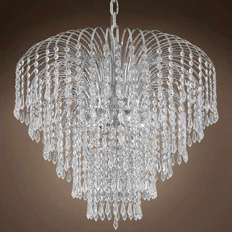 "JM Waterfall Design 6 Light 25"" Chandelier"
