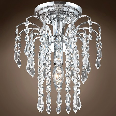 "JM Waterfall Design 1 Light 9"" Flush Mount"