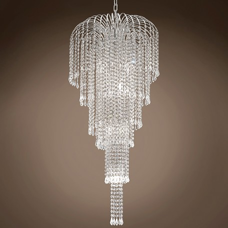 "JM Waterfall Design 9 Light 19"" Chandelier"