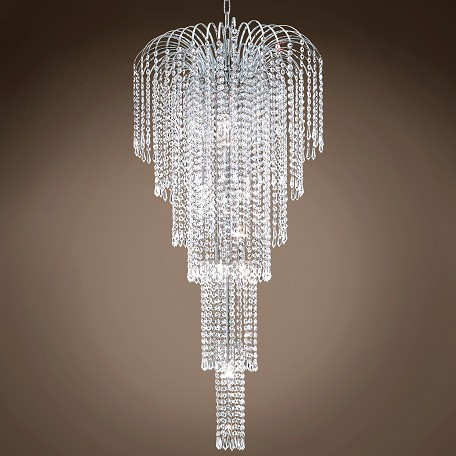 "JM Waterfall Design 9 Light 21"" Chandelier"