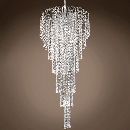 "JM Waterfall Design 11 Light 25"" Chandelier"