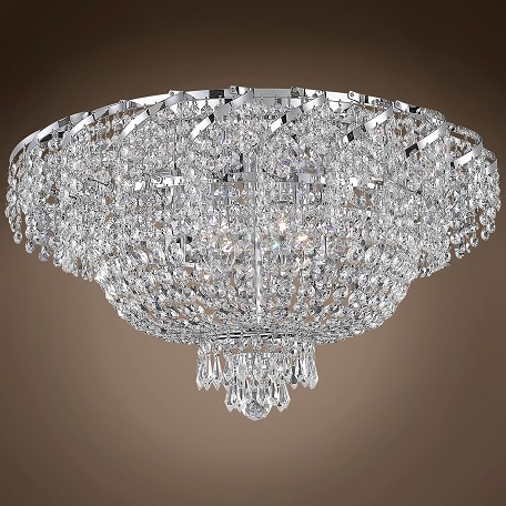"JM Regal Design 10 Light 26"" Flush Mount"