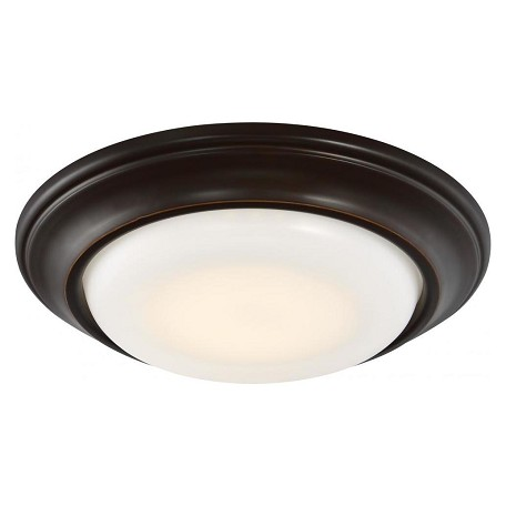 Minka-Lavery Led Recessed Light In Dark Restoration Bronze W/ Frosted White Glass