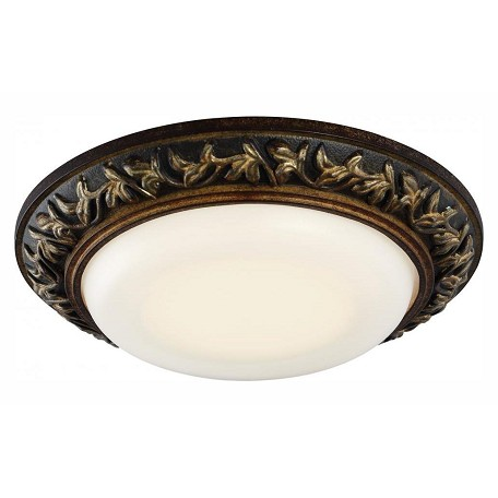 Minka-Lavery Led Recessed Light In Florence Patina W/Frosted White Glass
