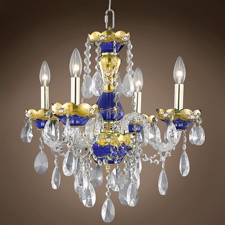 "JM Bohemian Design 4 Light 19"" Chandelier"