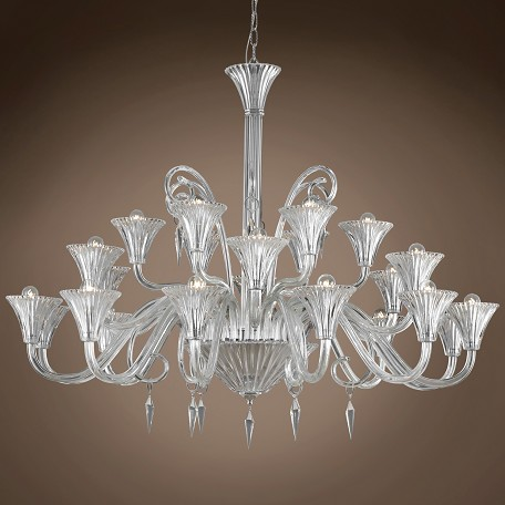 "JM Murano Design 24 Light 49"" Chandelier"