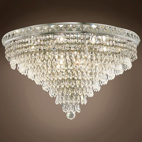 "JM Invisible Design 12 Light 24"" Flush Mount"