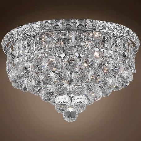 "JM Invisible Design 4 Light 14"" Flush Mount"