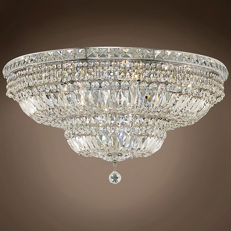 "JM Invisible Design 18 Light 30"" Flush Mount"