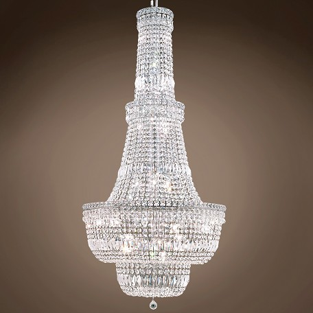 "JM Invisible Design 34 Light 28"" Chandelier"
