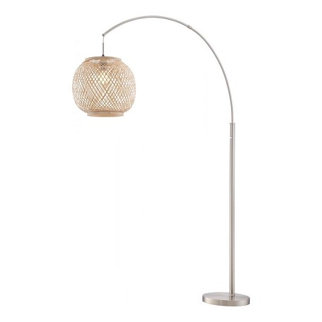 Lite Source Inc. Arch Lamp, Ps W/Rattan Shade, E27 Type Cfl 23W