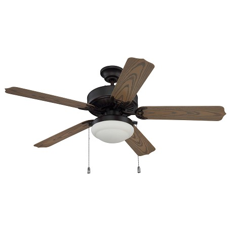 Craftmade 52in Ceiling Fan With Blades And Light Kit Aged Bronze Brushed Wod52abz5pc1 From Cove