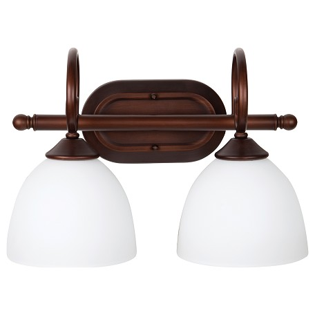 Vanity Lights Craftmade : Craftmade 2 Light Vanity Old Bronze 25302-OB-WG From Raleigh Collection