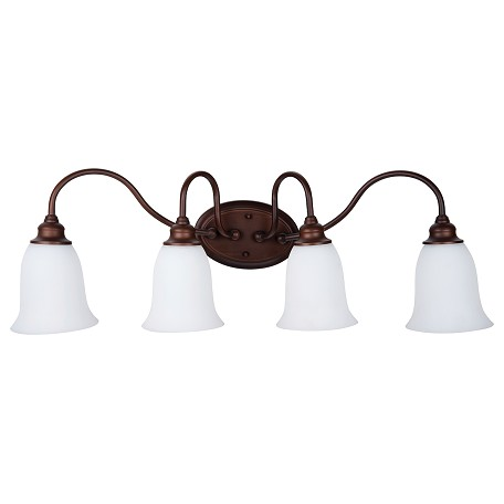 Vanity Lights Craftmade : Craftmade 4 Light Vanity Old Bronze 26304-OB-WG From Linden Lane Collection