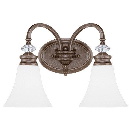 Vanity Lights Craftmade : Craftmade 2 Light Vanity Bronze 26702-MB-WG From Boulevard Collection