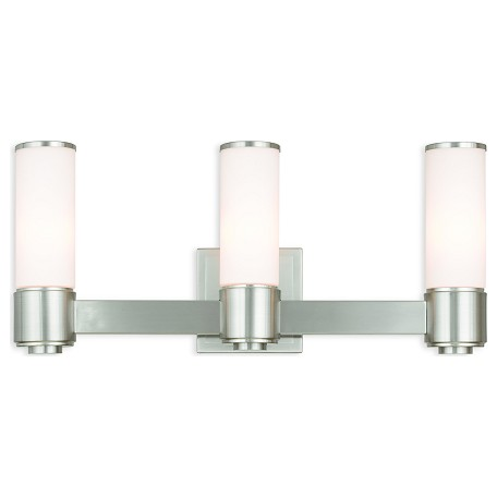 Ada Bathroom Wall Sconces : Livex Lighting Weston Brushed Nickel Ada Wall Sconce/ Bath Vanity Brushed Nickel 52123-91 From ...