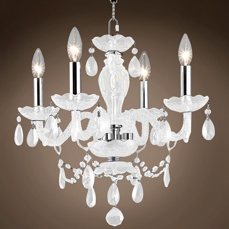 "JM Victorian Design 4 Light 17"" Chandelier"