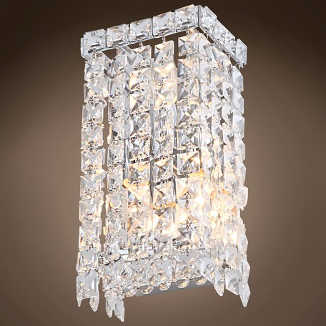 JM 3 Light Chrome Wall Sconce with Crystals