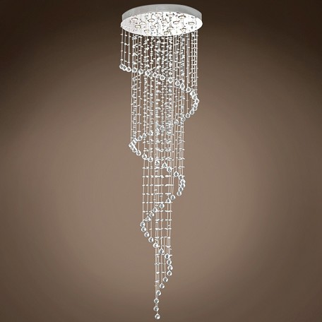 "JM Drops of Rain 11 Light 28"" Chrome Pendant Chandelier"