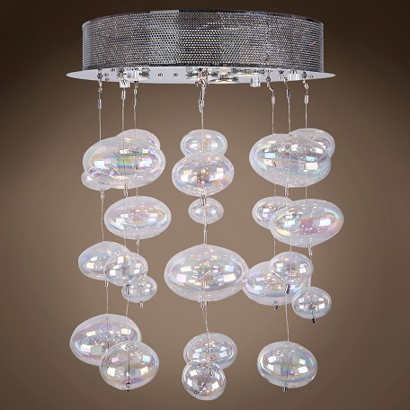Joshua marshal bubbles 4 light flush mount chandelier light in jm bubbles 4 light flush mount chandelier light in chrome 96962 aloadofball Choice Image