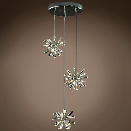 JM Limited Edition Polished Chrome 12 Light Pendant With Crystal Accent