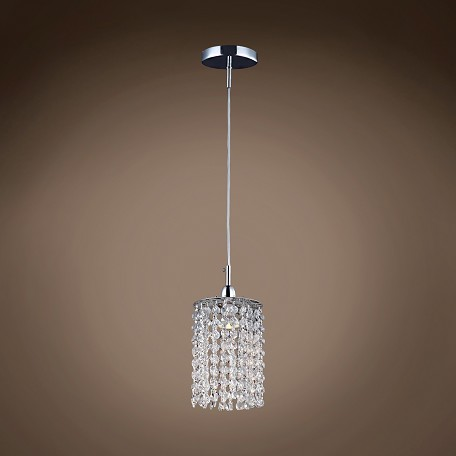 "JM Limited Edition 1 Light 5""  Crystal Mini Pendant Light in Chrome Finish"