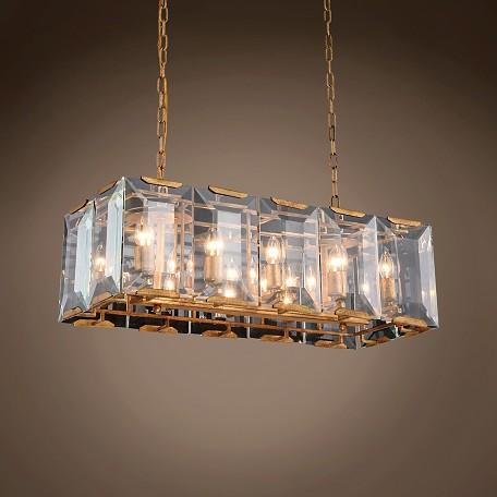 Harlow Crystal Rectangular 10 Light 34 Chandelier 1212d34gi