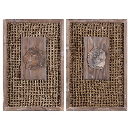 Uttermost Endicott Petrified Wood Panels Set/2