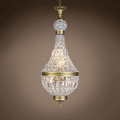 "19Th C. French Empire Crystal 6 Light 14"" Chandelier"