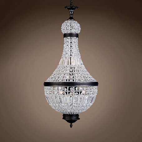"19Th C. French Empire Crystal 6 Light 18"" Chandelier"