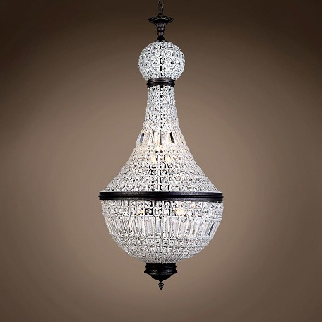 "19Th C. French Empire Crystal 8 Light 21"" Chandelier"