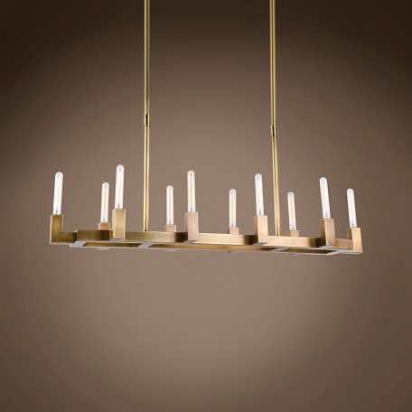 "Beaux 10 Light 48"" Linear Chandelier"