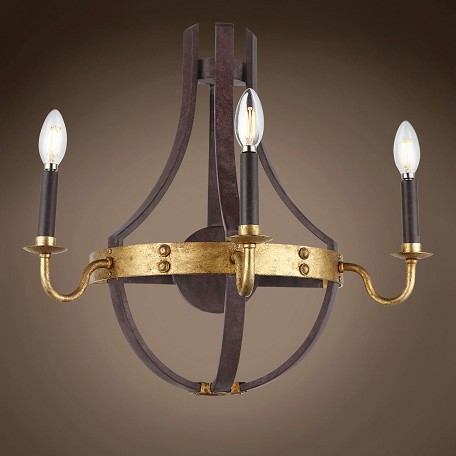 "Wine Barrel 3 Light 20"" Wall Sconce"